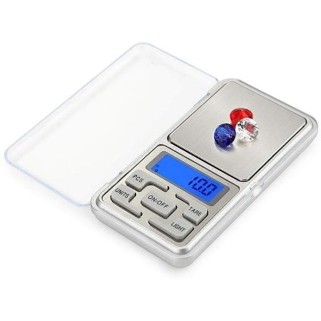 Balança de Bolso Digital Alta Precisão Mini Pesa até 500g 0,5kg Portatil