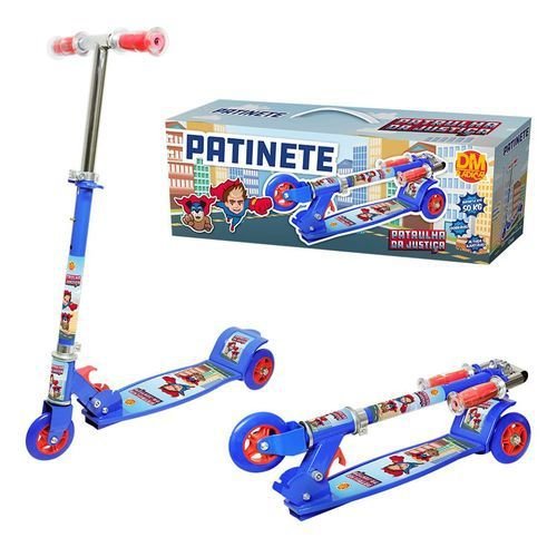Patinete New Top Radical 3 Rodas Infantil Suporta até 50kg Ajustavel DM Toys DMR5667