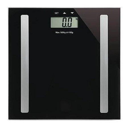 Balança Bioimpedância 180kg Digital Academia Nutrição Medir Gordura Corporal