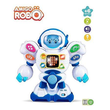Amigo Robô Brinquedo Educativo Bilingue Portugues Ingles ZP00048 Zoop Toys