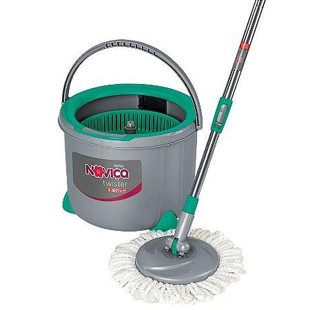 Mop Twister Esfregão Giratório para Limpeza Balde 7L Bettanin Noviça BT1902