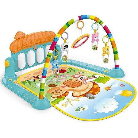 Tapete de Atividades para Bebê Piano Teclado Musical Interativo com Mobile Importway