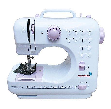 Máquina de Costura 12 Pontos Doméstica Semi Profissional Importway