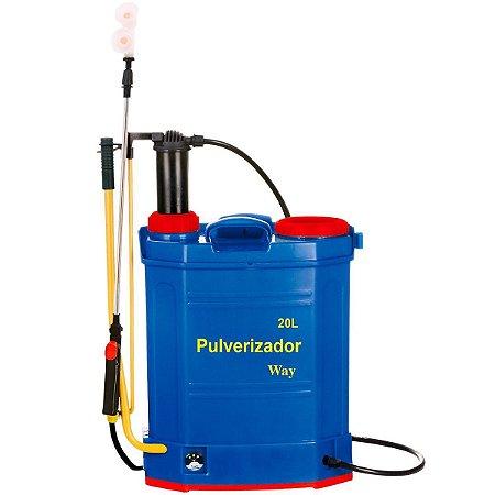 Pulverizador 2x1 Elétrico e Manual 2 em 1 Costal 20 Litros Bateria Recarregável Importway IWP2X1-020