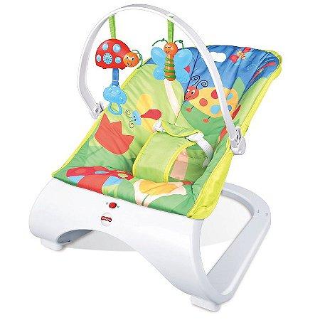 Cadeira Base Curva de Balanço Vibratória Descanso Bebê Musical com Vibração e Som Importway BW095