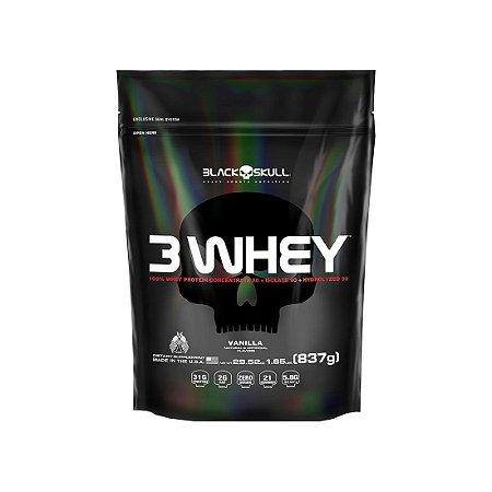 3 Whey (837g) - Black Skull