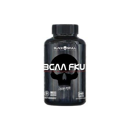 BCAA FKU (240 Tabs) Caveira Preta - Black Skull