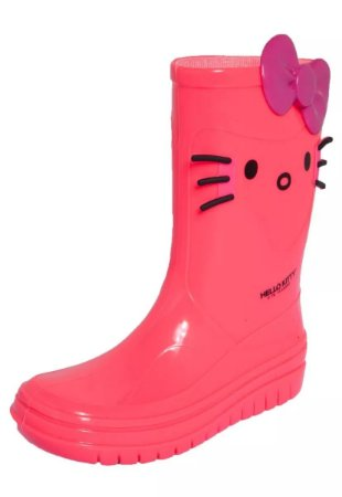 Galocha Hello Kitty Grendene - Rosa Neon