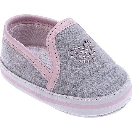 278355c67b3 Tênis Pimpolho Bebê - Menina Cinza Rosa - A sua loja de calçados e ...