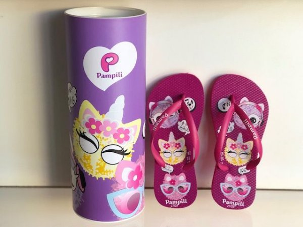 Chinelo Pampili Love Pink Batom