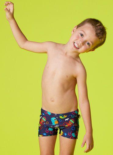 Sunga Puket Kids Boxer Monstro Marinho