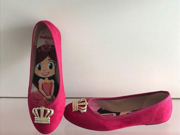 Sapatilha Molekinha Camurça Pink