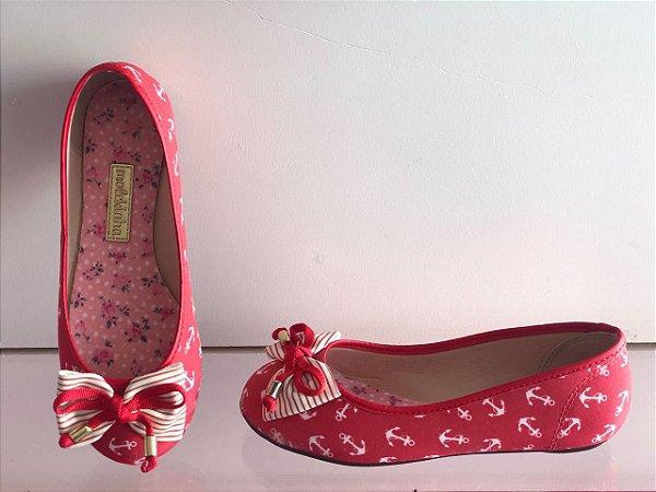 Sapatilha Molekinha Mini Ancora Multi Vermelho