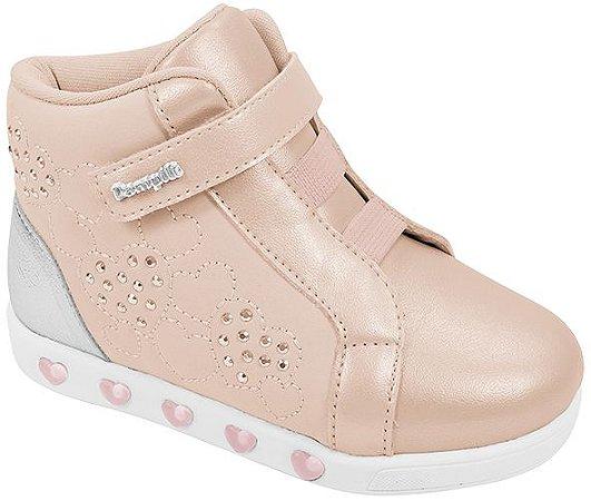 Tênis Pampili Sneaker Luz Rosa Novo - Cano Médio