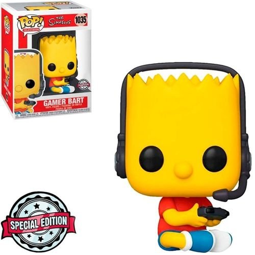 Funko Pop Television: The Simpsons - Gamer Bart #1035
