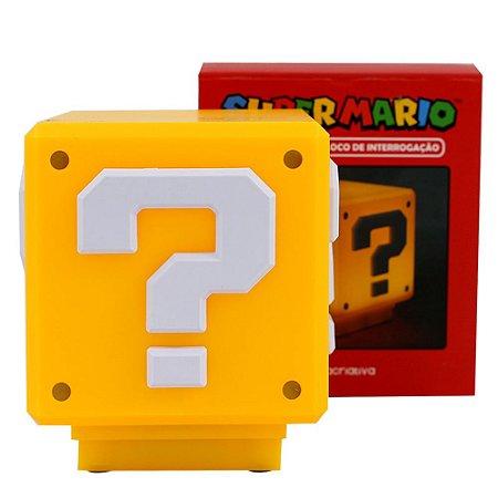 Luminária - Light Cubo Interrogação Super Mario