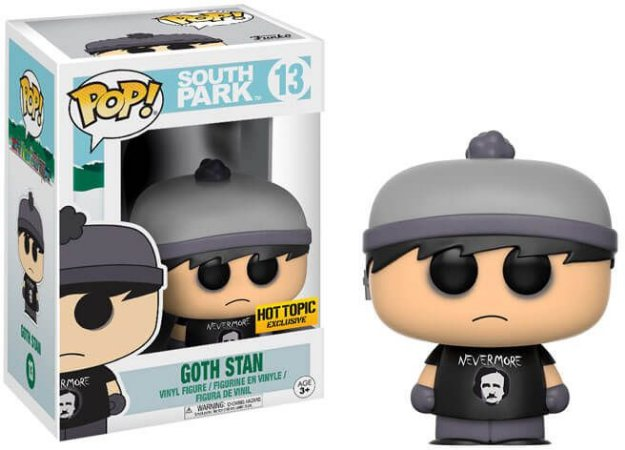 Funko Pop South Park Goth Stan Hot Topic Exclusive #13