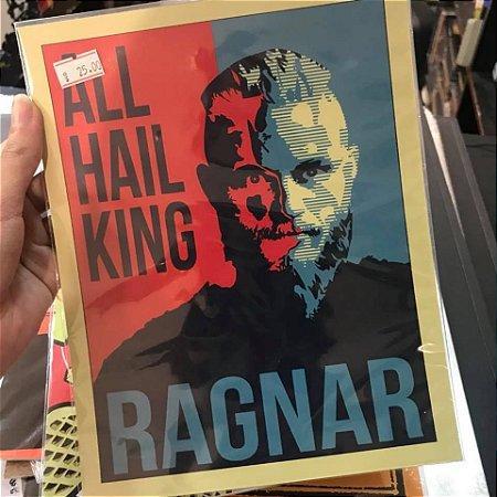 Ragnar Vikings Placa Decorativa épicos Colecionáveis