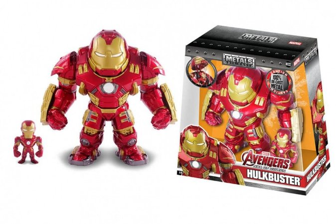 Boneco HulkBuster and Iron Man M132 - Avengers Age Of Ultron - Marvel - Metals Die Cast (2 Pack)