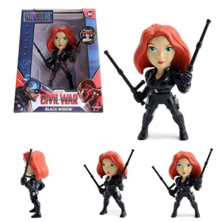 Boneco Black Widow (Viúva Negra) M48 - Capitão América Guerra Civil - Avengers - Metals Die Cast