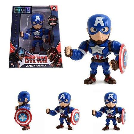 Boneco Captain America M45 - Capitão América Guerra Civil - Avengers - Marvel - Metals Die Cast