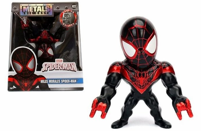 Boneco Miles Morales Spider-Man M252 - Marvel Spider-Man - Metals Die Cast