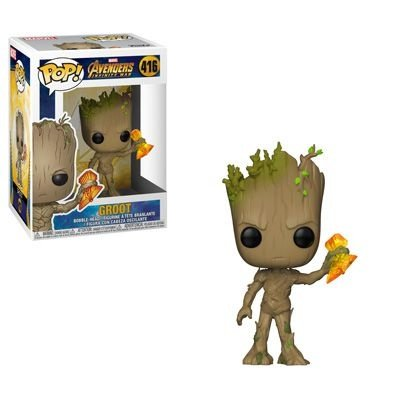 Funko Pop Avengers Infinity Wars : Groot (Infinity War) (with Stormbreaker) #416
