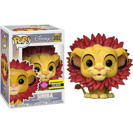 Funko Pop Disney: Lion King - Simba - Flocked (EE Exclusive) #302