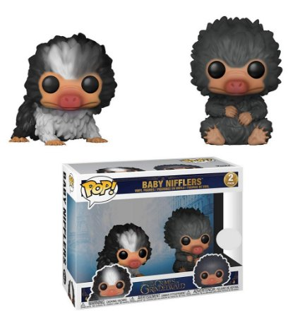 Funko Pop Fantastic Beasts: Baby Nifflers (Grey and Black) Exclusive #02