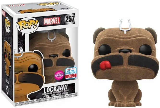 Funko Pop Marvel Inhumans Lockjaw Flocked - Exclusivo New York Comic Con #257