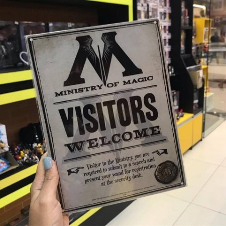 Ministério da Magia - Placa decorativa