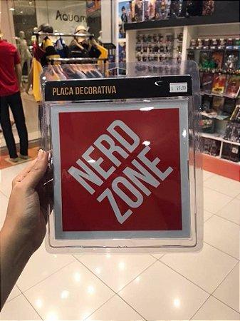 Nerd Zone - Placa decorativa