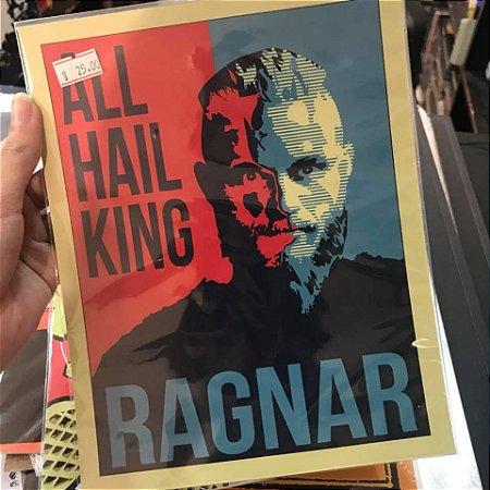 Ragnar - Vikings - Placa Decorativa