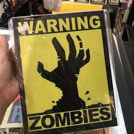 Zombies - Placa Decorativa