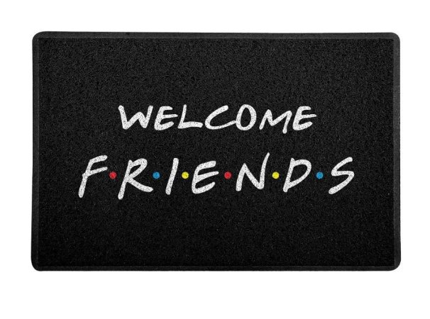 Capacho 60x40cm Welcome - Friends
