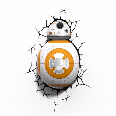 Luminária: Star Wars - BB-8 3D Led