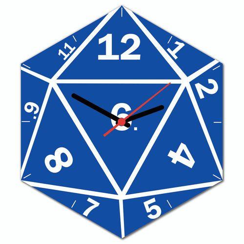 Relógio de paredeDado de RPG D20