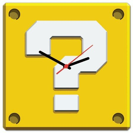 Relógio de parede Interrogação Mário