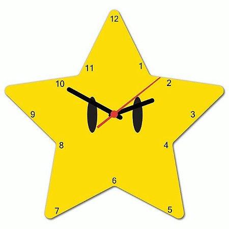 Relógio de parede Super Star Mário