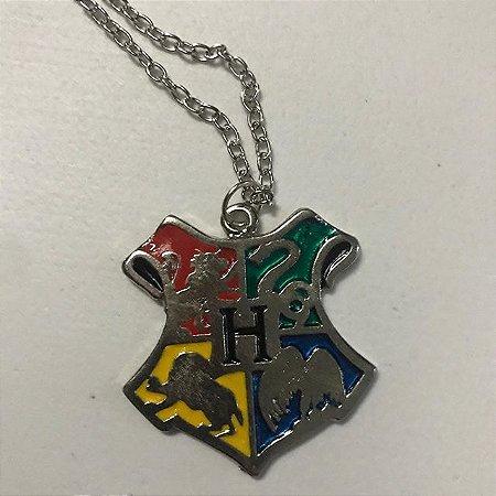 Escudo De Hogwarts Colar - Harry Potter