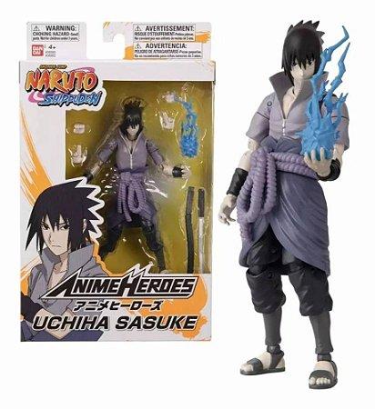 Boneco Naruto Shippuden Anime Heroes - Uchiha Sasuke