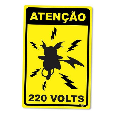 Atenção 220 Volts - Placa Decorativa
