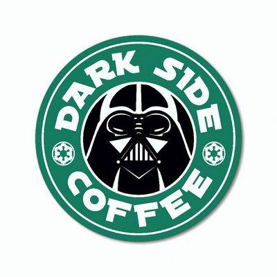 Dark Side Coffee - Placa Decorativa