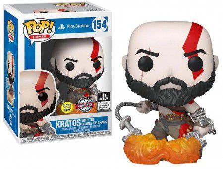 Funko Pop! Games: PlayStation - Kratos (Excl) (Glow) #154