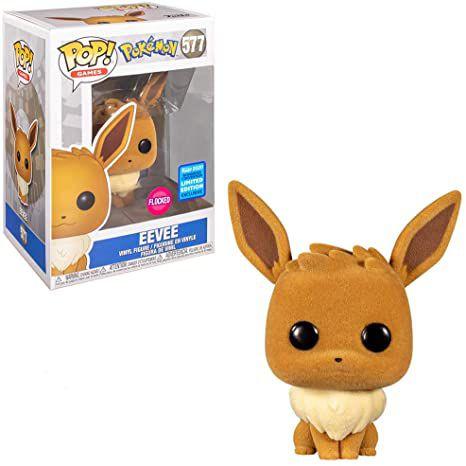 Funko Pop Games: Pokemon - Eevee (Flocked) #577