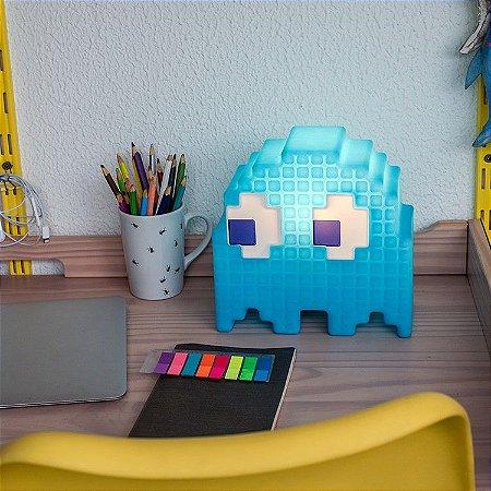 Luminária - Fantasma Azul Pac-Man