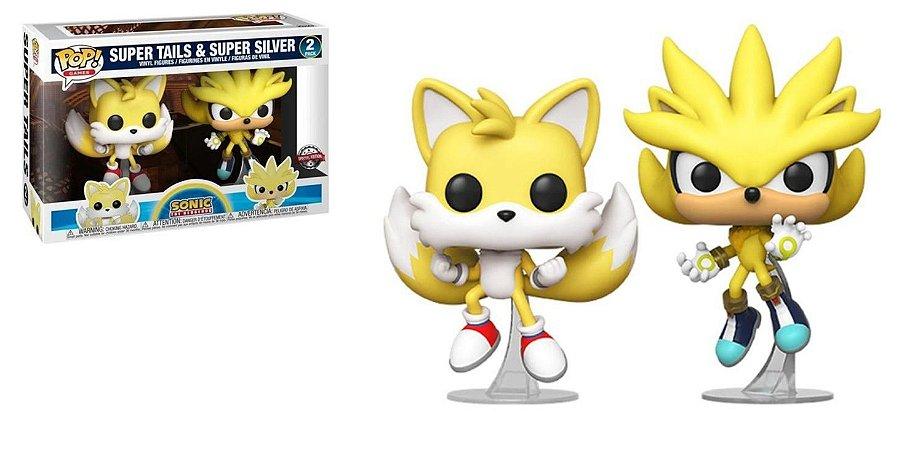Funko Pop! Games: Sonic - Super Tails e Super Silver #2Pack