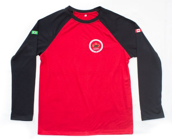 Maple Bear Fundamental - Camiseta Manga Longa - Vermelha - Feminina - Ref.146