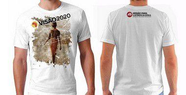 Camiseta Masculina: VISÃO 2020 - BRANCA