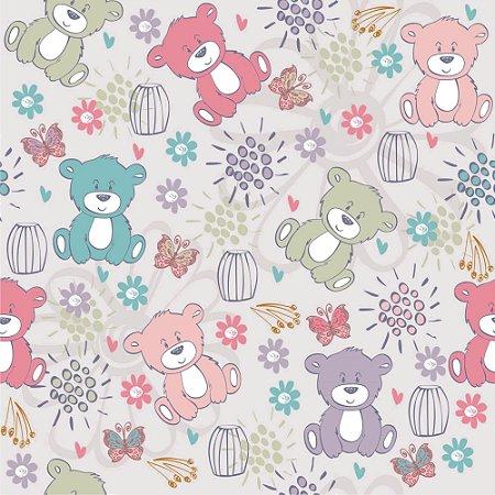 Papel de parede ursinhos coloridos